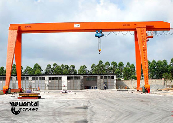 MH Type Rail Mounted Indoor Gantry Crane , Portable Gantry Crane Easy To Use