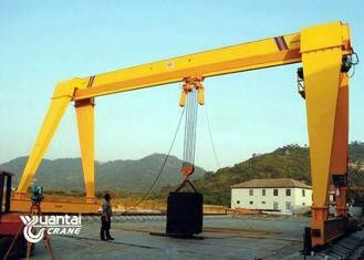 Yellow Color Monorail Wire Rope Hoist Crane Anti Corrosion With Trolley