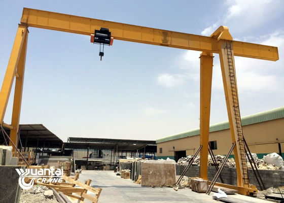 Electric Hoist 15 Ton Gantry Crane Single Beam For Marble Slabs Stone Factory